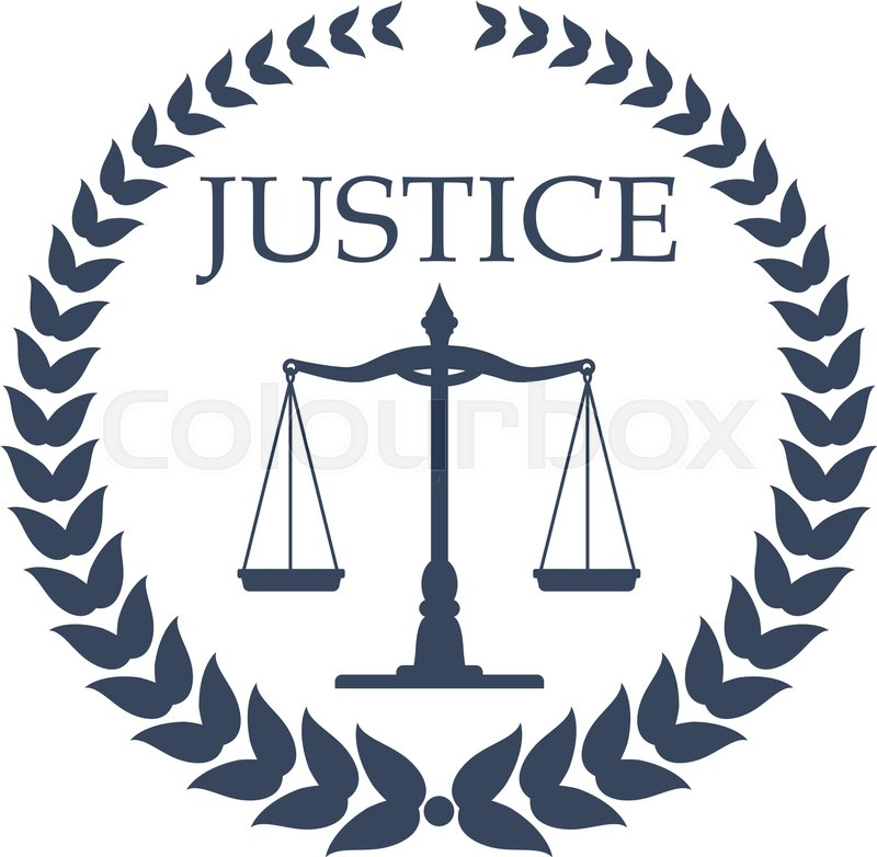 Law Firm Lawyer Or Law Office Symbol Scales Of Justice Framed By