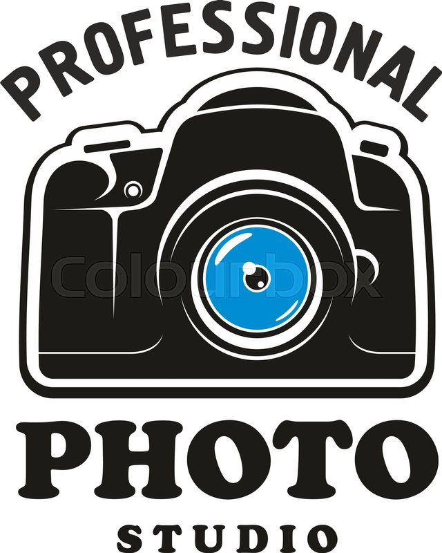 Photography And Photo Studio Symbol Camera Black Sign With Headers