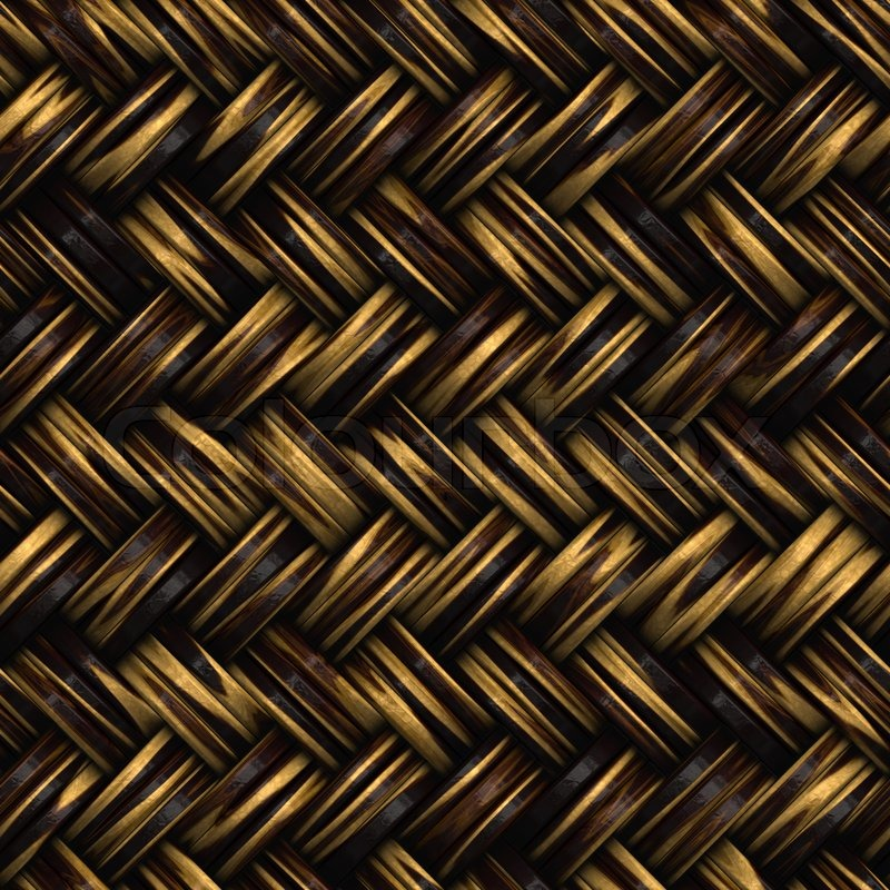 A Seamless 3d Wicker Basket Or Furniture Texture That