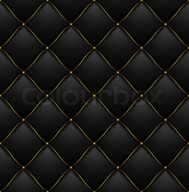 Black Quilted Wallpaper Quilted Pattern...