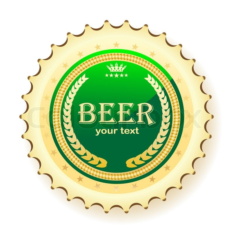 illustration of bottle cap from beer, on a white background