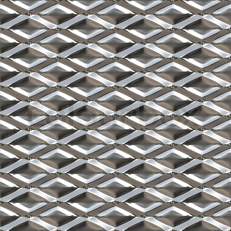 Diamond Shaped Metal Texture That You Might See On A Hot
