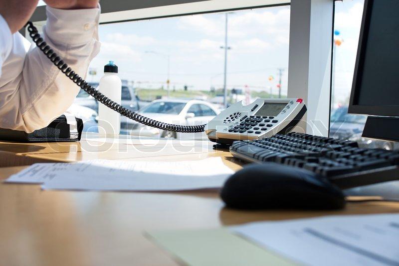 Arbeitsplatz büro schreibtisch Nahaufnahme eines modernen Büro- Arbeitsplatz Schreibtisch Setup ...