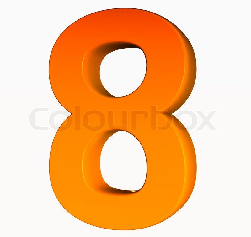 Orange Alphabet Number 8 3d Isolated On White Image 2445900 on Letter Gg Craft