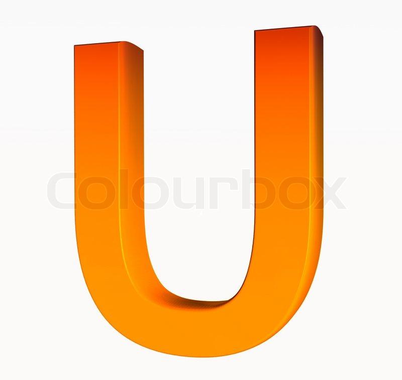 Orange Alphabet Letter U 3d Isolated On White Image 2445967 on Letter Gg Craft