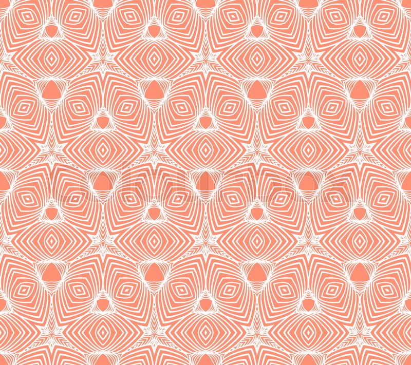 Linear Geometric Psychedelic Pattern Stock Vector