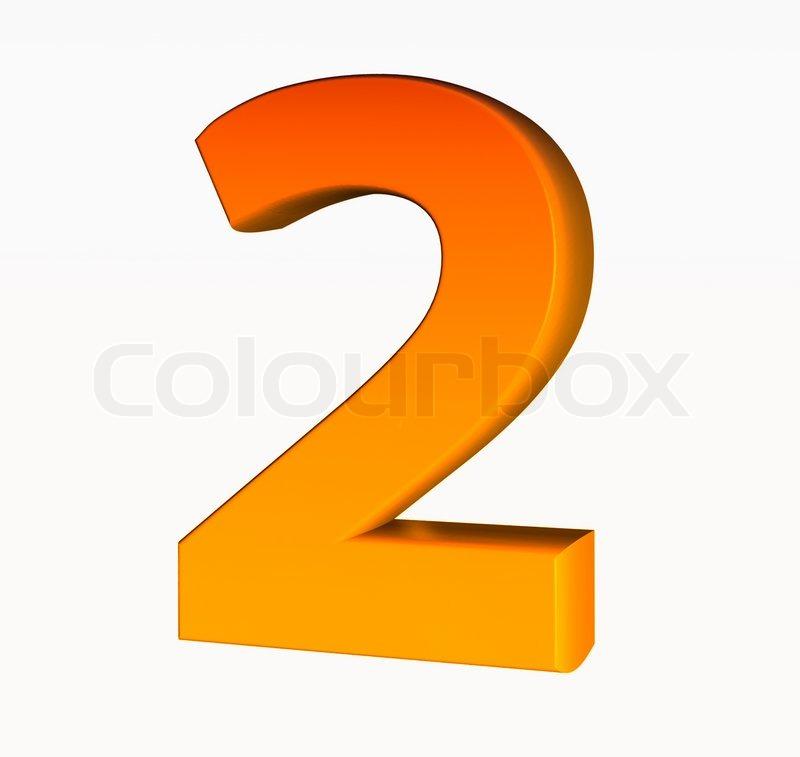 orange alphabet number 2 isolated on white stock photo colourbox