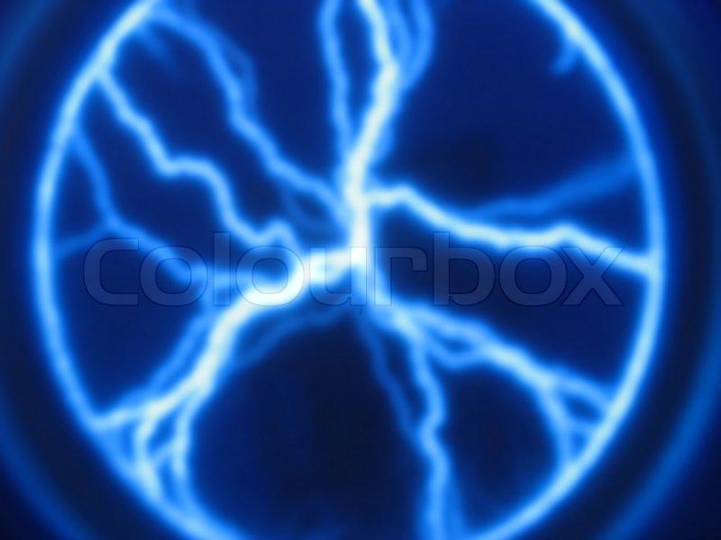Lightning Bolt Plasma Display Stock Photo Colourbox