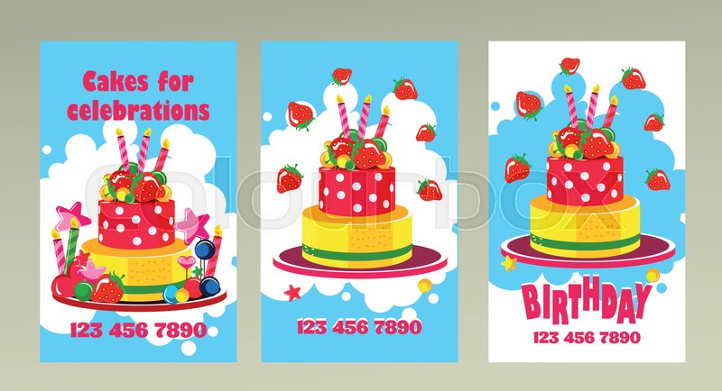 Vector Business Cards On Holidays Birthdays Can Be Used For