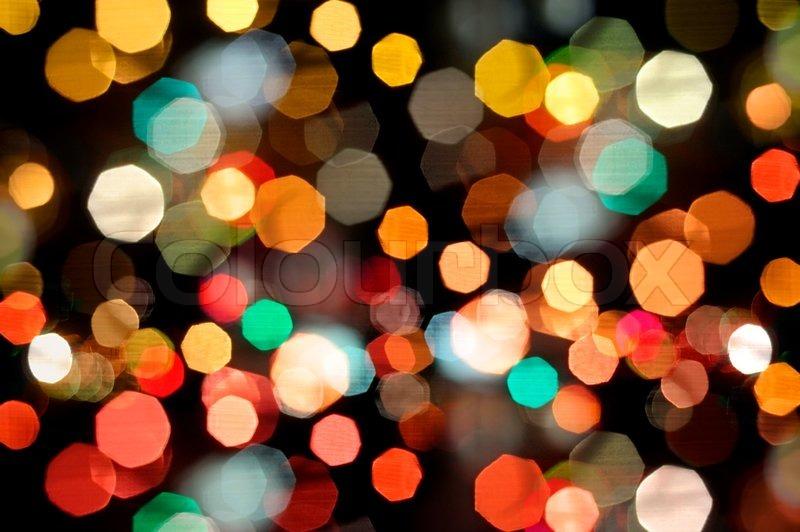 & Photo of bokeh lights on black background | Stock Photo | Colourbox azcodes.com