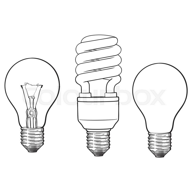 set of transparent  opaque  glowing and energy saving