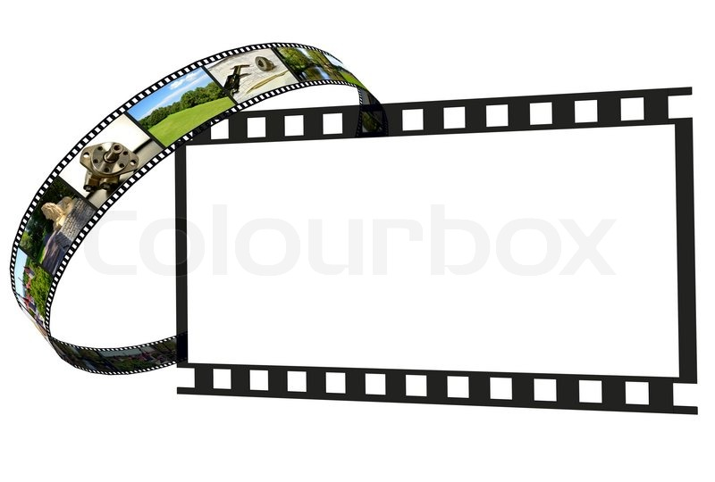 Frames Of Film And Blank Frame Stock Photo Colourbox