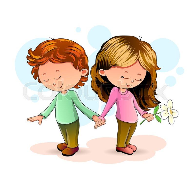 Картинки с мальчиком и девочкой держатся вместе за руку