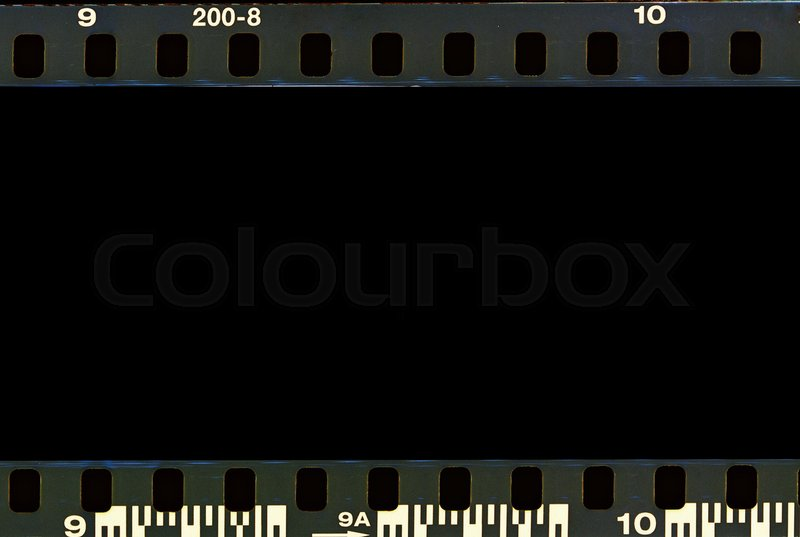 Real film border strip scan and old texture frame and ...