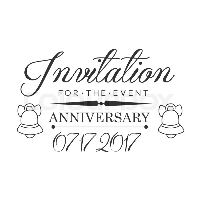 Graduation Anniversary Party Black And White Invitation Card Design
