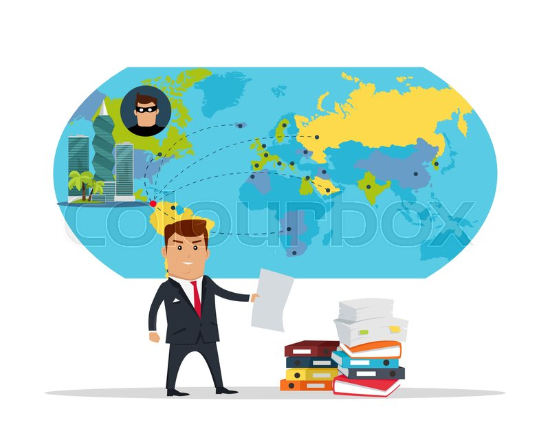 Man in business suite with sheet of paper on panama city world map man in business suite with sheet of paper on panama city world map background public corruption disclosure international financial investigation concept gumiabroncs Choice Image