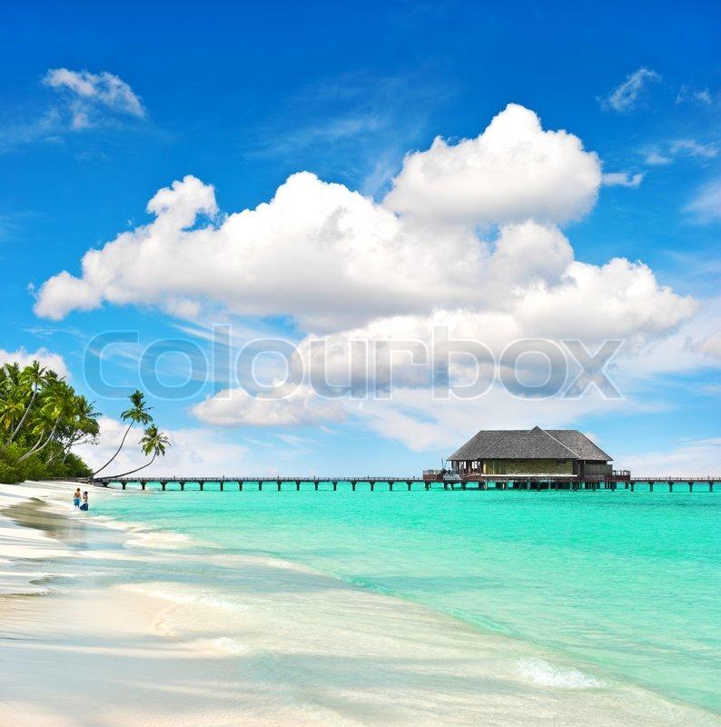 Landschaft Der Tropischen Insel Strand Mit Perfekten