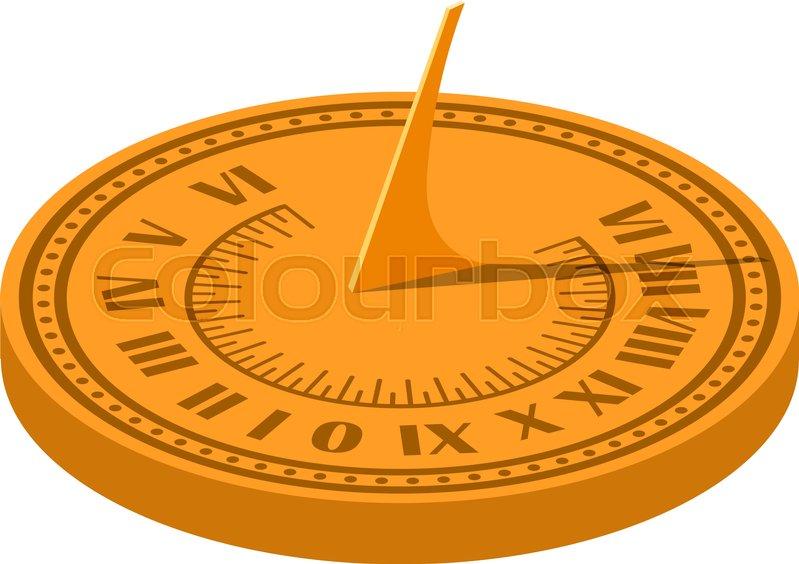 Color Vector Image Of A Sundial On A Stock Vector Colourbox