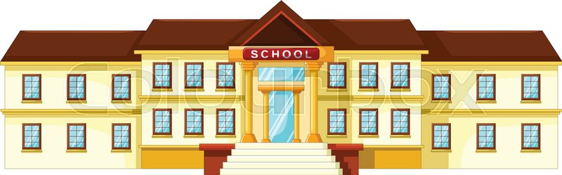 vector illustration of school building cartoon stock vector rh colourbox com cartoon school building no background cartoon school building black and white