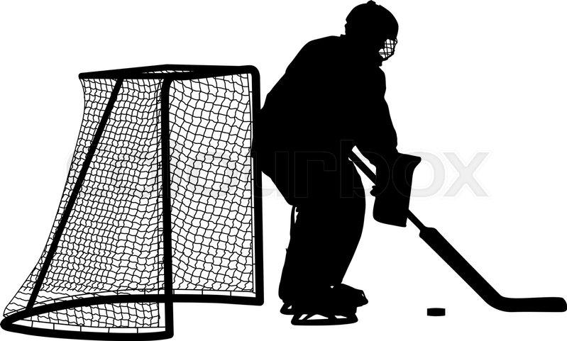 Silhouette Of Hockey Goalkeeper Stock Vector Colourbox