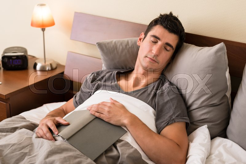 Image result for man falling asleep after reading a book