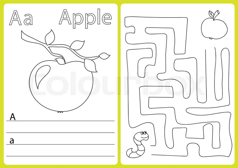photo relating to Alphabet Puzzle Printable referred to as Alphabet A-Z - puzzle Worksheet,  Inventory vector Colourbox