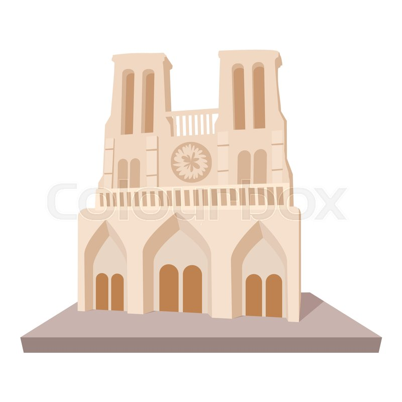 French castle icon. Cartoon illustration of french castle vector icon for web, vector