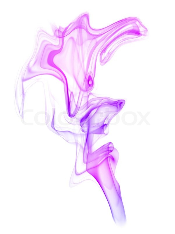 Colored Smoke On The White Background
