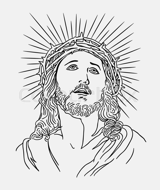 Line Art Jesus : Jesus christianity religion line art drawing style good