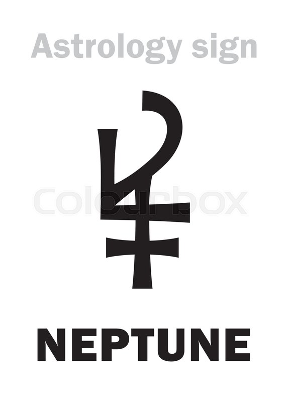 Astrology Alphabet Neptune Higher Global Planet Hieroglyphics
