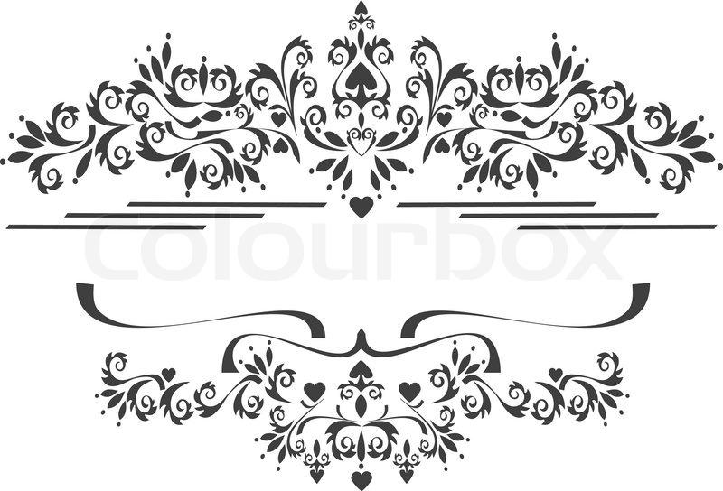 Black Ornamental Border Frame On A White Background
