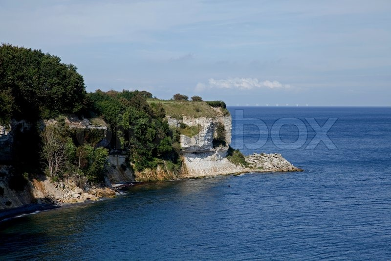Stevns Cliff - Cliff, stock photo