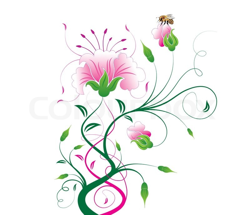 flower girl vector abstract - photo #6