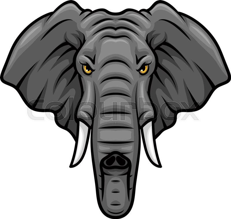 elephant vector mascot icon head of african or indian elephant or rh colourbox com elephant vector images elephant vector file