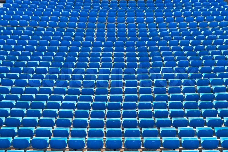 Row Of Seats The Soccer Stadium Stock Photo Colourbox