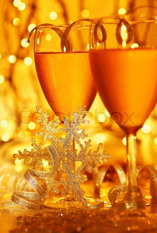 Romantic Holiday Drink Celebration Of Christmas Or New