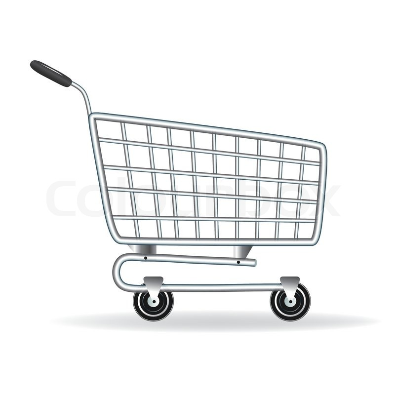 shopping cart icon vector illustration element for design stock rh colourbox com Pony Cart Drawings how to draw a shopping cart step by step