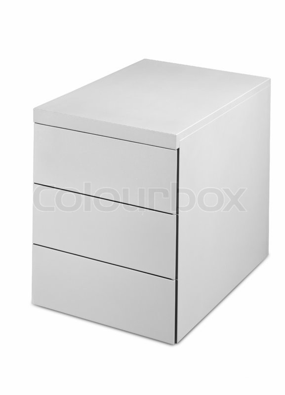 Office Furniture Isolated On A White Background