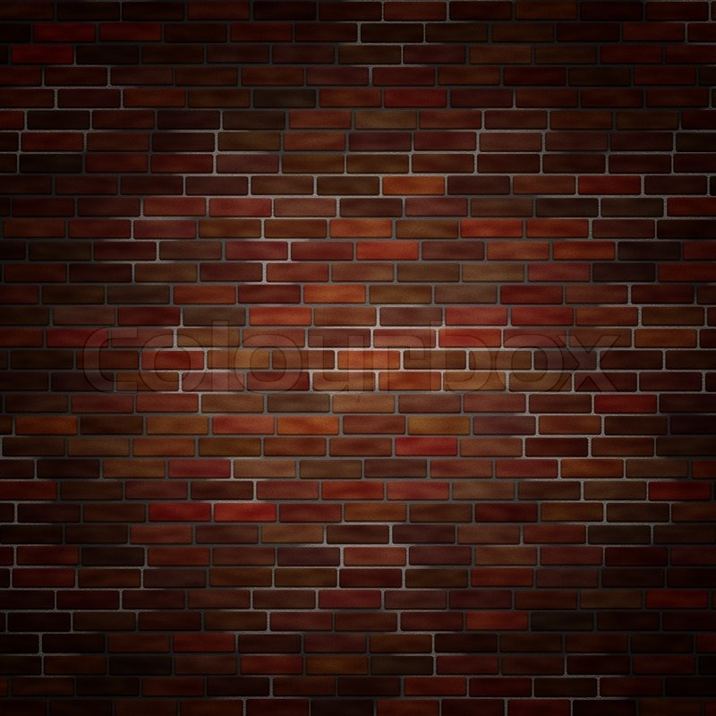 Abstract Generated Brick Wall Surface Grunge Background