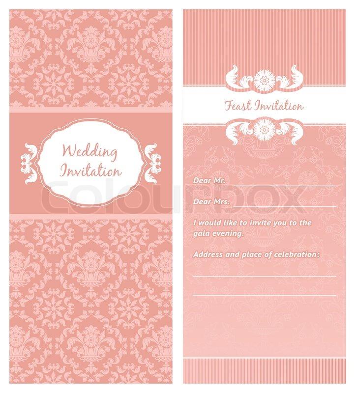 Fest Einladung Vorlage Vektorgrafik Colourbox
