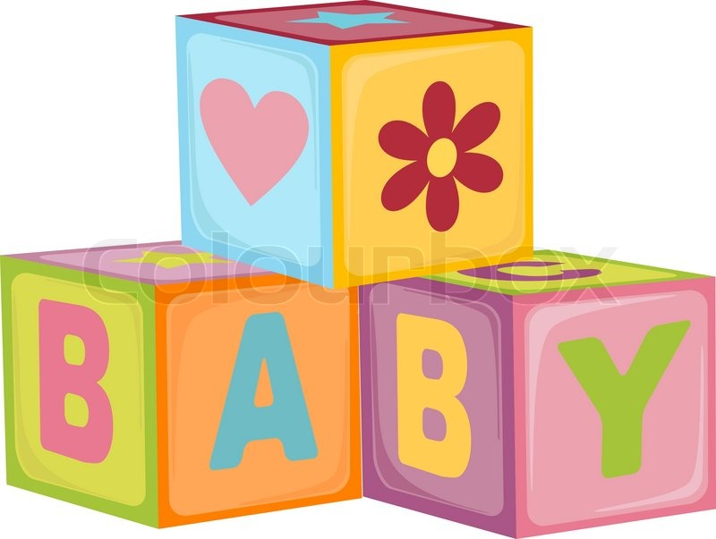 Baby S Letter Cubes Toys Stock Vector Colourbox