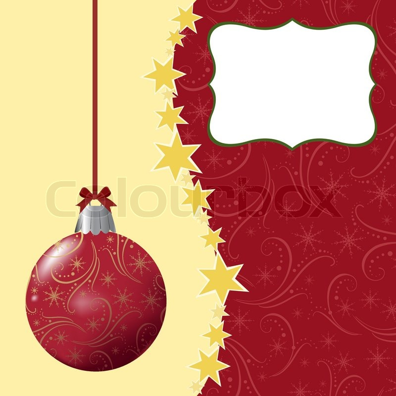 Blank template for Christmas greetings card, postcard or photo farme ...