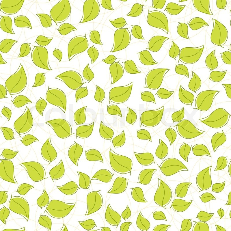 Cute seamless background with green leaves stock vector colourbox voltagebd Choice Image