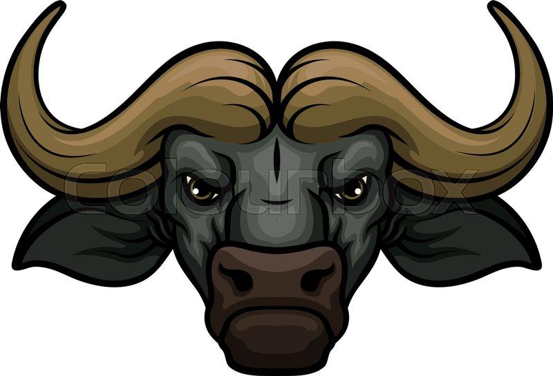 Black buffalo vector m...