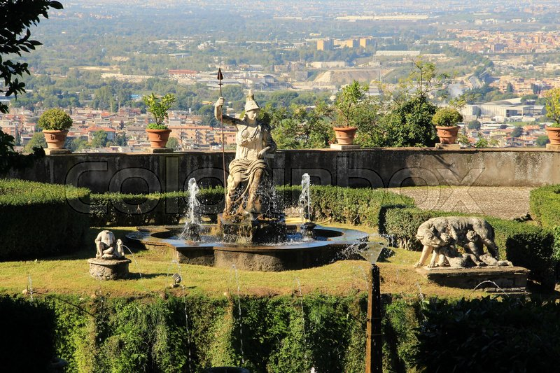 Attraction, the fountain of Rometta in ...