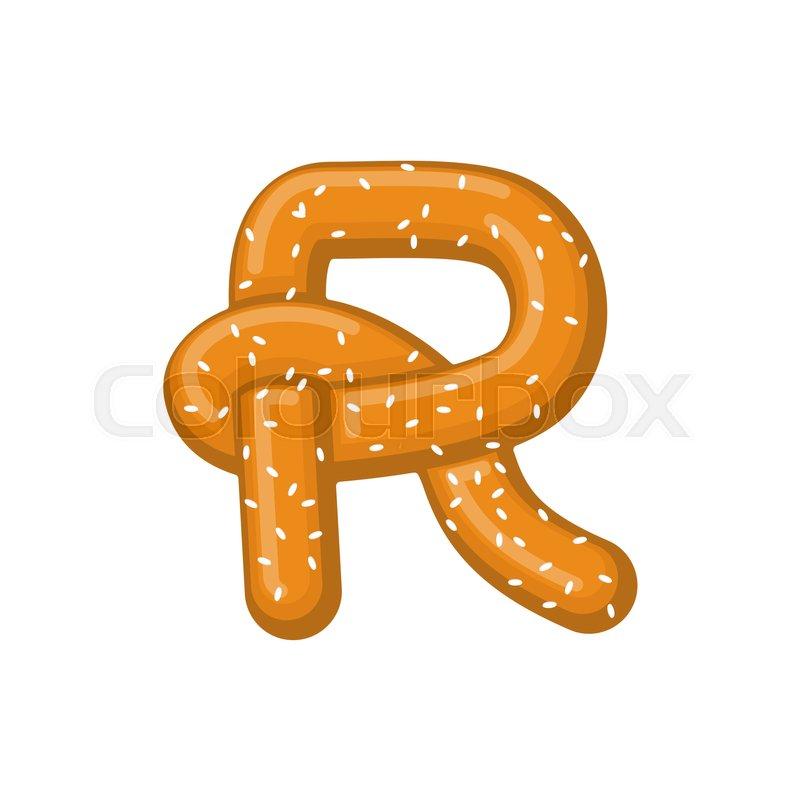 letter r pretzel snack font symbol food alphabet sign traditional