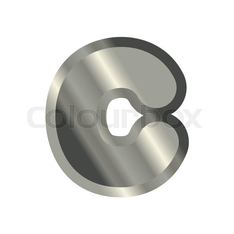 Letter C Steel Font Metal Alphabet Sign Iron Abc Symbol Chromium