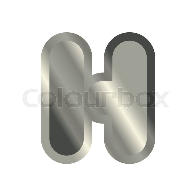 Letter H Steel Font Metal Alphabet Sign Iron Abc Symbol Chromium