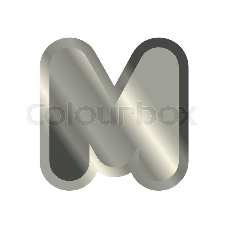 Letter M Steel Font Metal Alphabet Sign Iron Abc Symbol Chromium
