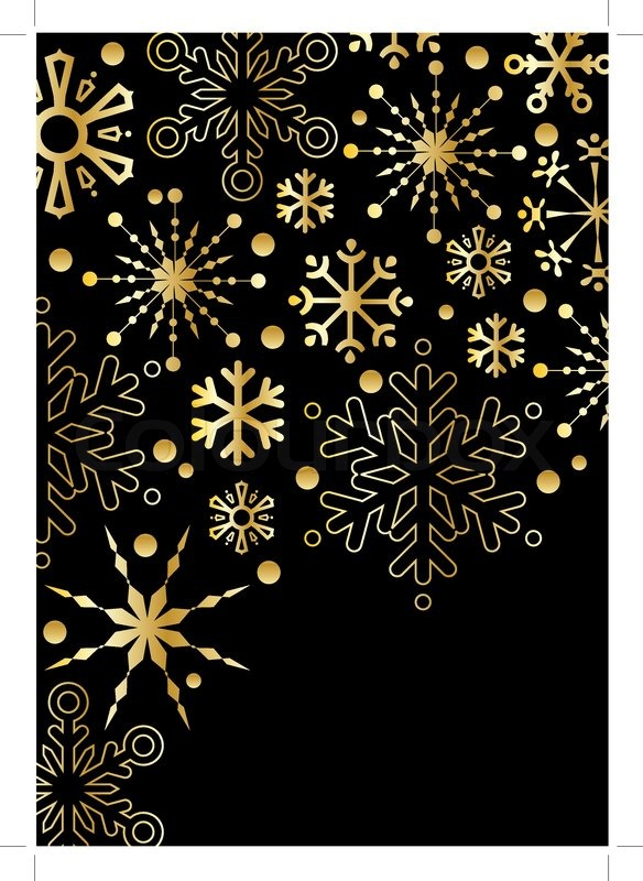 Black Background With Gold Stars Stock Vector Colourbox